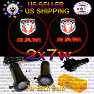 Ram 2x7w Ghost Shadow Laser Projector Logo Led Light Courtesy Door Step Dodge