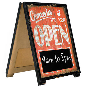 A frame Open closed Sign 17x13 Inches