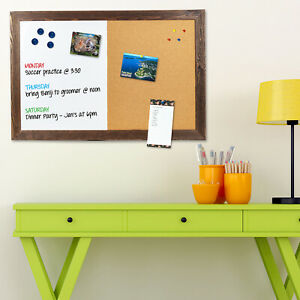 Dry Erase Cork Board Combo Magnetic White Board With Cork Bulletin 24 x36