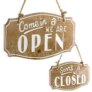 Come In We Are Open sorry We Are Close Sign 6 75 X 11 75 Inches brown