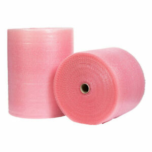 Pink Anti Static Small Bubble Wrap 300mm 500mm 750mm 1500mm Uk Made Rolls