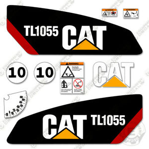 Caterpillar Tl1055 Telescopic Forklift Decal Kit Equipment Decals Tl 1055