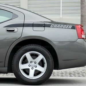 X2 Charger Quarter Panel Accent Side Stripes Decal Fits Dodge Charger 2006 2010