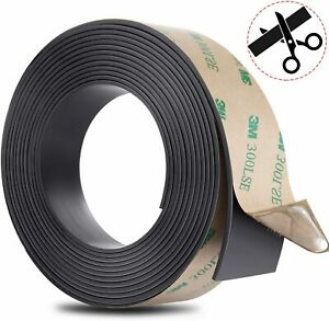Gimars Anisotropic Flexible Magnetic Strip Tape W Strong Self Adhesive 1 Inch