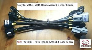 Headlight Adapter Harness For 2013 15 Accord Coupe Halogen To 16 17 Touring Led