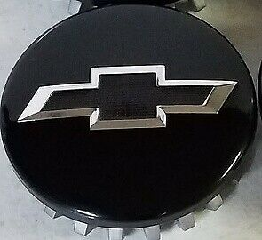 New Look Blemish Sell 4 2014 20 Chevy Gloss Black Center Cap Chrome Black Bowtie