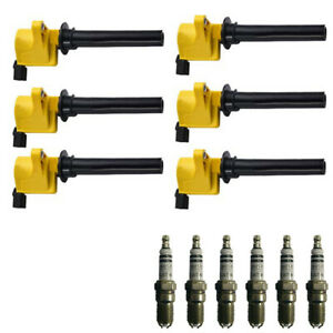 Set Of 6 Ignition Coils Bosch 4305 Spark Plugs For 00 08 Ford Mercury 3 0l