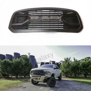 Front Upper Bumper Grille For 2013 18 Dodge Ram 1500 Big Horn Style Matte Black