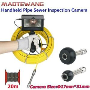 20m 4 3 Inch Handheld Led Pipe Drain Sewer Inspection Video Camera Waterproof