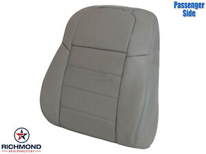2009 2010 Dodge Charger passenger Side Lean Back Genuine Leather Seat Cover Gray