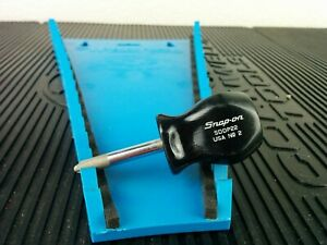 Ag325 Snap On Tools No 2 Phillips Black Stubby Screwdriver Sddp22 Usa
