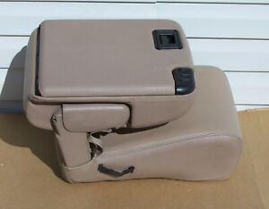 99 07 Ford F250 F350 Excursion Center Console Assembly Tan Leather Oem