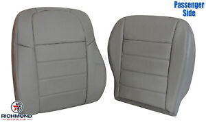 2009 2010 Dodge Charger passenger Side Complete Genuine Leather Seat Covers Gray