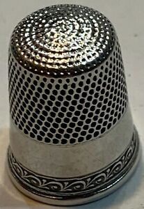Simon Brothers Decorative Band Thimble Sterling Size 10