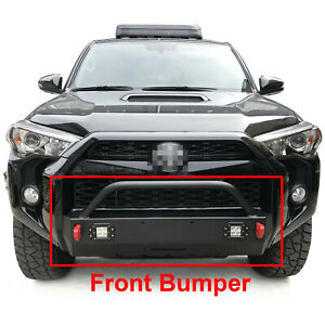 Front Bumper Guard For 2016 2020 Toyota 4runner Trd Pro Steel With Lights