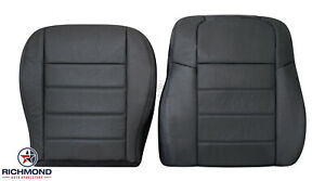 2009 Dodge Charger driver Side Bottom Lean Back Leather Seat Covers Dark Gray