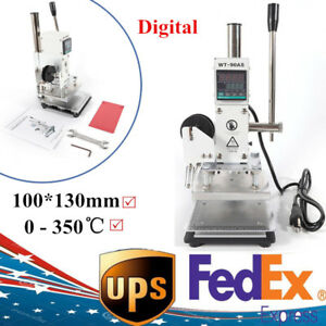 Digital Manual Hot Foil Stamping Machine Embossing Pvc Logo Pressing Marking Usa