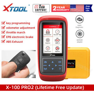 Us Ship Xtool X100 Pro2 Obdii Auto Key Program Code Reader Diagnostic Scan Tool