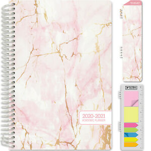 Hardcover Academic Year 2020 2021 Planner 5 5 x8 pink Marble