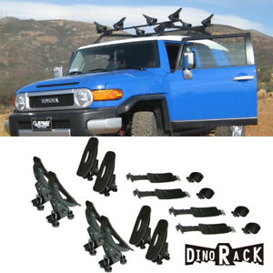 Universal 2 Set 8 Roof Rack Cross Bar Mounted Saddles Kayak Canoe Boat Carrier