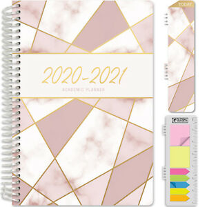 Hardcover Academic Year 2020 2021 Planner 5 5 x8 new Pink Triangles