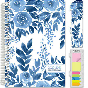 Hardcover Academic Year 2020 2021 Planner 5 5 x8 blue Bloom