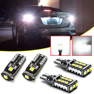 Led License Plate Backup Reverse Lights For Nissan Altima Sentra Maxima Rogue