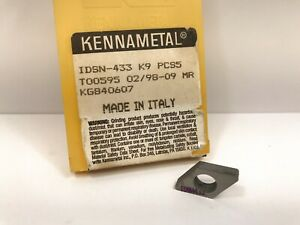 Kennametal Idsn 433 New Carbide Inserts Grade K9 4pcs
