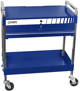 Sunex 8013abl Sunex 8013abl Service Cart With Locking Top And Drawer Blue