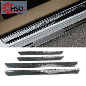 Carbon Style Scuff Plate Door Sill Car Accessories For Peugeot 206 208 207 308