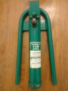 Greenlee Hydraulic Foot Pump 1725 6500psi pump Only Does Not Include Pedal