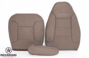 1992 1996 Ford Bronco Eddie Bauer driver Side Complete Leather Seat Covers Tan