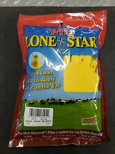 Y tex Lone Star Ez Ear Tags Large Yellow Blank 25ct new