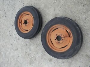 Allis Chalmers Wd45 Wd 45 Tractor Ac Rims 5 50 X 16 6ply Armstrng Front Tires