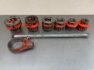 Ridgid Pipe Threader 12r Set 6 Dies 1 2 2