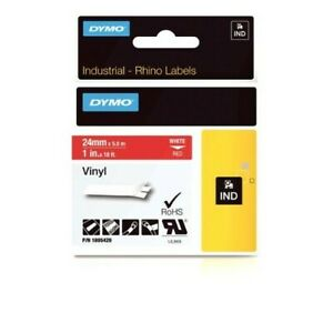 Dymo Industrial Labels For Dymo Industrial Rhino Label Makers White On Red