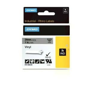 Dymo Industrial Labels For Dymo Industrial Rhino Label Makers Black On Gray