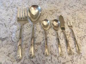 Rogers Reinforced Plate International Silver Spring Charm Serving Pieces