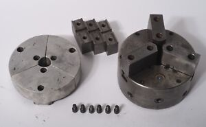 Buck 3 jaw Adjust tru Chuck With 3 Sets Of Jaws For Hardinge
