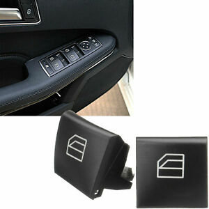 2x Interior Driver Window Switch Repair Button Cover For Mercedes R350 Ml350