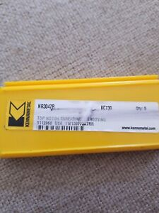 Kennametal Nr3047r Kc730 Top Notch Threading Grooving Inserts 3pc s