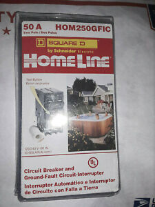 Brand New Square D Circuit Breaker Hom250gfic 2 Pole 50 Amp 120 240v 60 Hz
