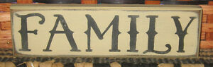 Primitive Country Family Shelf Sign
