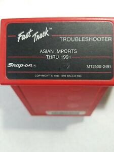 Snap On Scanner Mt2500 2491 Fast Track Troubleshooter Cartridges Asian Imports