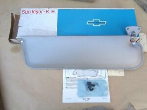 Nos 1967 Chevy Truck Right Hand Sun Visor Unit W Support Original Gm Sunshade Rh