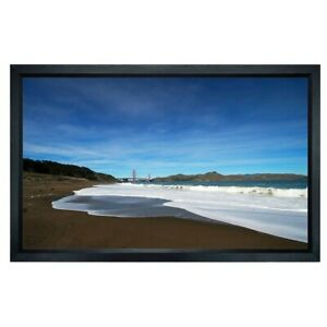 106 Fixed Projector Screen White 16 9 Aluminum Frame Home Theater Projection