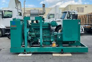 1995 Cummins Onan Generator 300dfcb 300 Kw Cummins 465hp Engine 1187 Hours