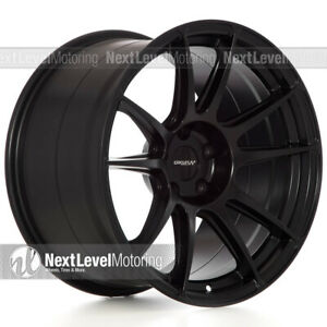 Circuit Cp32 18 9 18 10 5 5 114 3 Flat Black Wheels Staggered Fit Infiniti G35