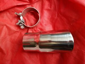 Dynomax 36484 Stainless Steel Exhaust Tip 2 5 Id X 3 Od 6 Single Wall Pair