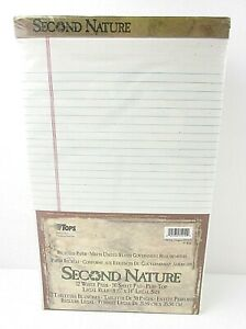 New Tops Second Nature 12 White Pads 50 Sheet Pad Legal Rule 8 5 X 14 B16